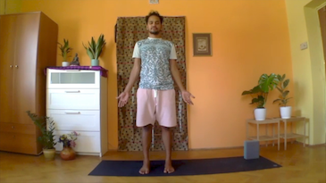 J|Day 13 - Hatha - Half Lotus in Crow & Headstand