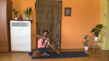 A|Day 3 - Water Flow 1 - Half Vishwamitrasana